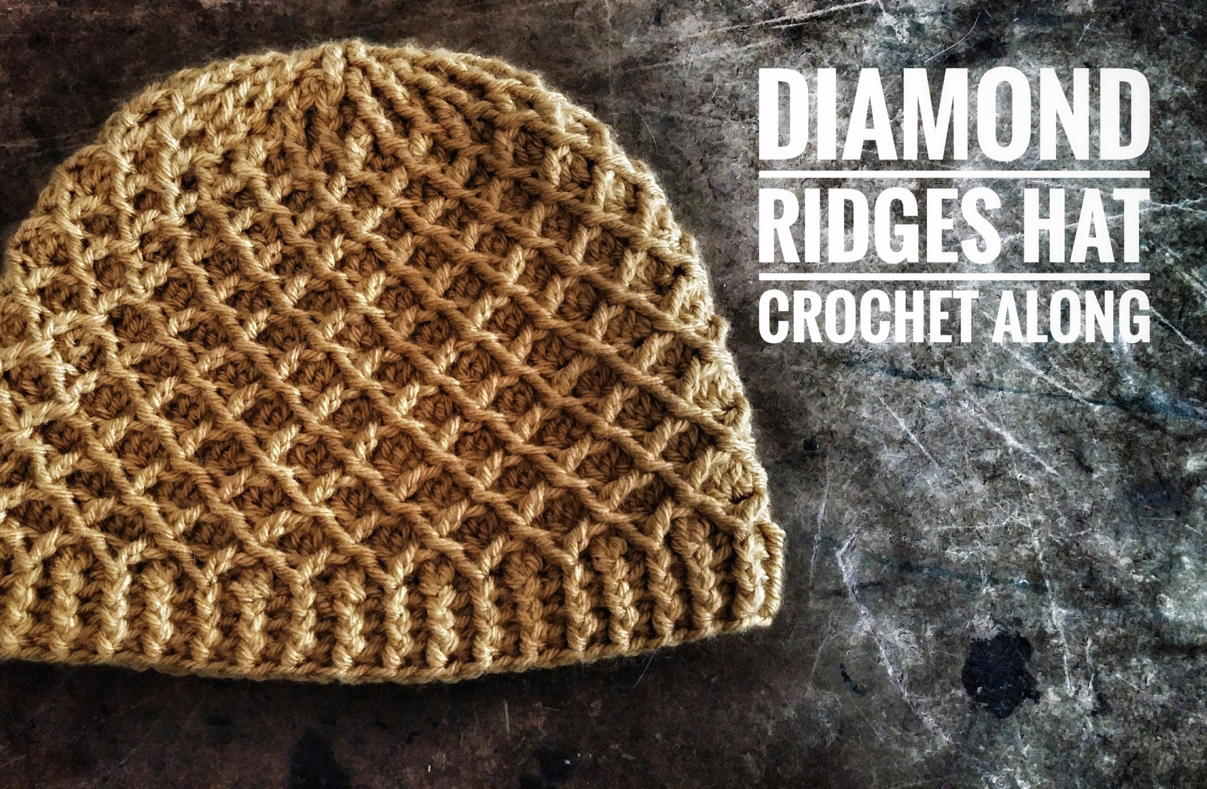 Crochet Diamond Ridges Beanie hat