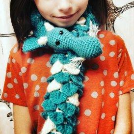 crochet dragon scarf pattern